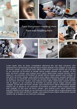 Optometry Word Template, Cover Page, 05094, Medical — PoweredTemplate.com