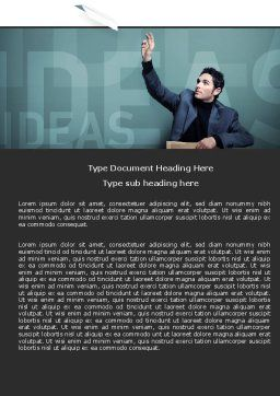Ideas Word Template, Cover Page, 05096, Business — PoweredTemplate.com