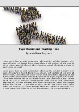 Moving Crowd Word Template, Cover Page, 05097, Consulting — PoweredTemplate.com