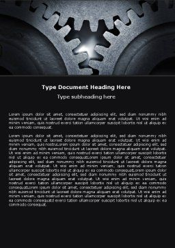 Cogwheels Word Template, Cover Page, 05098, Utilities/Industrial — PoweredTemplate.com