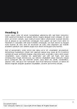 Cogwheels Word Template, Second Inner Page, 05098, Utilities/Industrial — PoweredTemplate.com