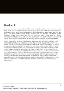 Round Table Meeting Word Template Second Inner Page