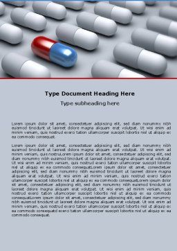 Pharmacological Solution Word Template, Cover Page, 05100, Medical — PoweredTemplate.com