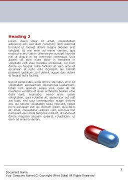 Pharmacological Solution Word Template, Second Inner Page, 05100, Medical — PoweredTemplate.com