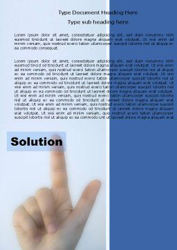 Indication Of Solution Word Template, Cover Page, 05102, Consulting — PoweredTemplate.com