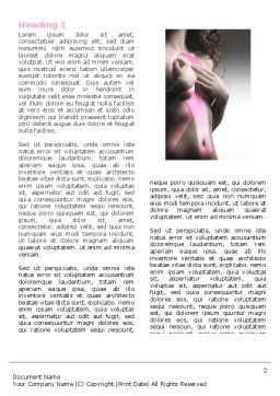 Breast Cancer Ribbon On The Naked Girl Body Word Template, First Inner Page, 05103, Medical — PoweredTemplate.com