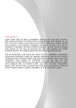 Breast Cancer Ribbon On The Naked Girl Body Word Template, Second Inner Page, 05103, Medical — PoweredTemplate.com