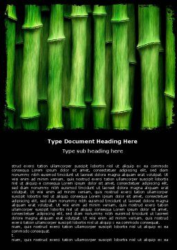 Green Bamboo Word Template, Cover Page, 05104, Nature & Environment — PoweredTemplate.com