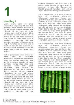 Green Bamboo Word Template, First Inner Page, 05104, Nature & Environment — PoweredTemplate.com