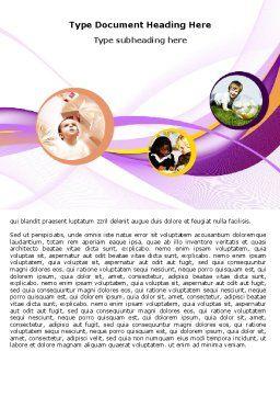 Child Development In Kindergarten Word Template Cover Page