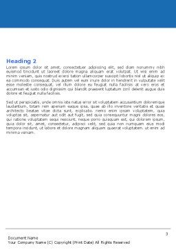 Brain Scan Word Template, Second Inner Page, 05108, Medical — PoweredTemplate.com