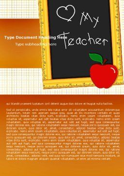 I Love My Teacher Word Template Cover Page