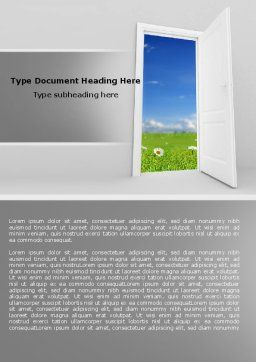 Exit Word Template, Cover Page, 05111, Business Concepts — PoweredTemplate.com
