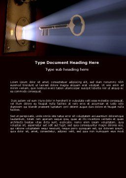Keyhole With Light Beam Word Template, Cover Page, 05113, Consulting — PoweredTemplate.com