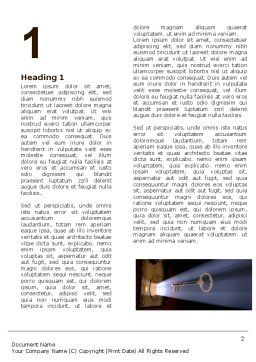 Keyhole With Light Beam Word Template, First Inner Page, 05113, Consulting — PoweredTemplate.com