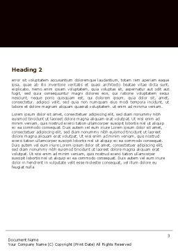 Keyhole With Light Beam Word Template, Second Inner Page, 05113, Consulting — PoweredTemplate.com