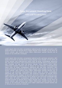 Air Vessel Word Template, Cover Page, 05115, Cars/Transportation — PoweredTemplate.com