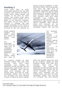 Air Vessel Word Template, First Inner Page, 05115, Cars/Transportation — PoweredTemplate.com