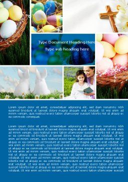 Free Easter Sunday Word Template, Cover Page, 05120, Holiday/Special Occasion — PoweredTemplate.com