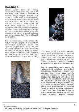 Coal Word Template, First Inner Page, 05121, Utilities/Industrial — PoweredTemplate.com