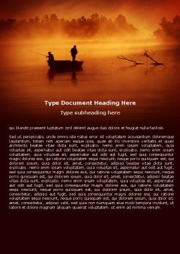 Recreational Fishing Word Template, Cover Page, 05122, Nature & Environment — PoweredTemplate.com