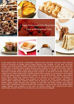 Toast Word Template, Cover Page, 05125, Food & Beverage — PoweredTemplate.com