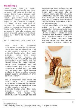Toast Word Template, First Inner Page, 05125, Food & Beverage — PoweredTemplate.com