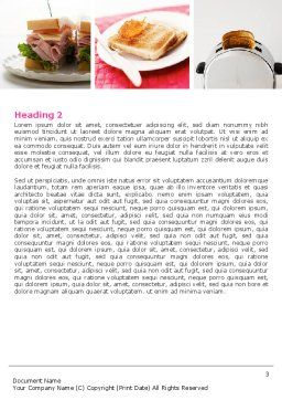 Toast Word Template, Second Inner Page, 05125, Food & Beverage — PoweredTemplate.com