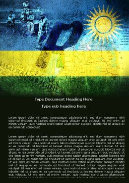 Rwanda Word Template, Cover Page, 05127, Flags/International — PoweredTemplate.com