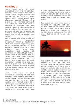 Tropical Sunset Word Template First Inner Page