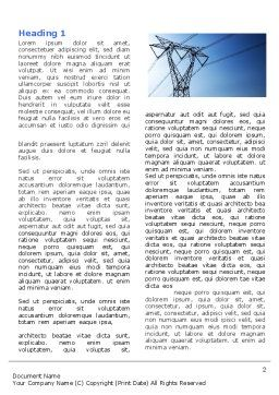 Power Lines Mast Word Template First Inner Page