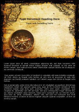 Old Map Word Template, Cover Page, 05132, Careers/Industry — PoweredTemplate.com