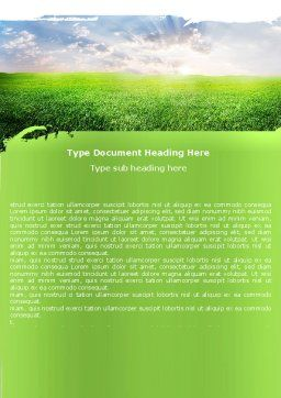 Aurora Over The Green Field Word Template Cover Page