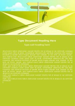 Crossroad Sign Word Template, Cover Page, 05137, Consulting — PoweredTemplate.com