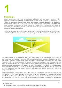 Crossroad Sign Word Template, First Inner Page, 05137, Consulting — PoweredTemplate.com