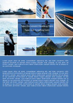 Cruise Word Template Cover Page