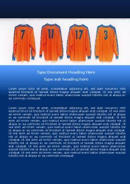Football T-shirts Word Template, Cover Page, 05140, Careers/Industry — PoweredTemplate.com
