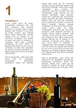 Winemaking Word Template, First Inner Page, 05145, Food & Beverage — PoweredTemplate.com
