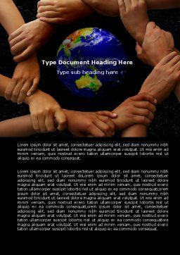 Holding Hands Word Template Cover Page
