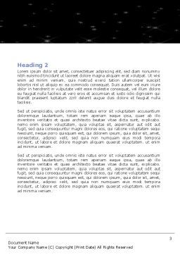 Holding Hands Word Template Second Inner Page