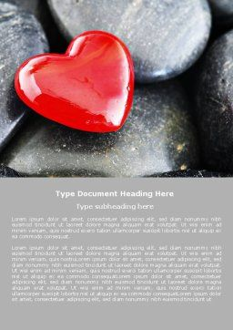 Red Heart Word Template, Cover Page, 05150, Holiday/Special Occasion — PoweredTemplate.com