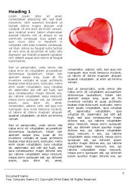 Red Heart Word Template, First Inner Page, 05150, Holiday/Special Occasion — PoweredTemplate.com