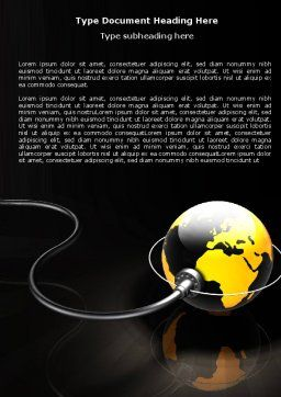 Plugged In Word Template, Cover Page, 05153, Global — PoweredTemplate.com