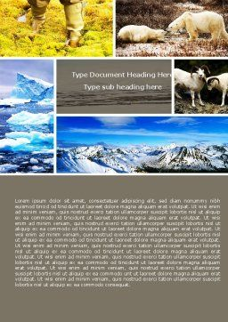 Tundra Word Template, Cover Page, 05154, Nature & Environment — PoweredTemplate.com