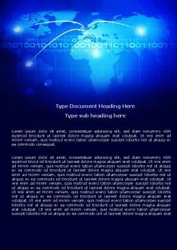 IP Address Word Template, Cover Page, 05155, Telecommunication — PoweredTemplate.com