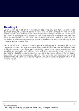 IP Address Word Template, Second Inner Page, 05155, Telecommunication — PoweredTemplate.com