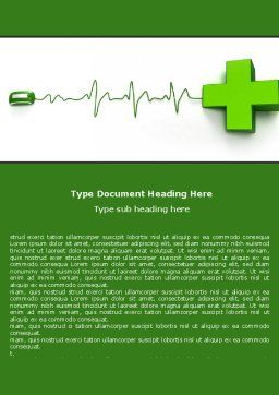 Medical Website Word Template, Cover Page, 05159, Medical — PoweredTemplate.com