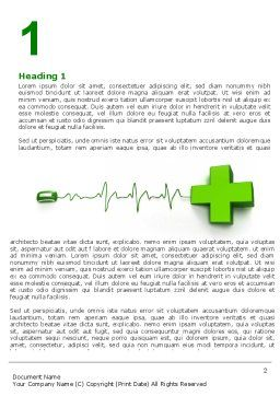 Medical Website Word Template, First Inner Page, 05159, Medical — PoweredTemplate.com