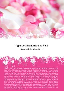 Petals Word Template, Cover Page, 05167, Holiday/Special Occasion — PoweredTemplate.com