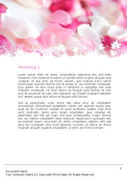 Petals Word Template, Second Inner Page, 05167, Holiday/Special Occasion — PoweredTemplate.com